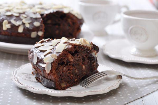 Čokoládový koláč s mandľami |