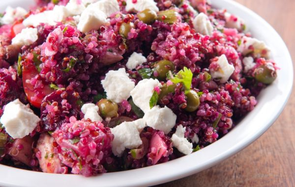 Quinoa s cviklou a Feta syrom |