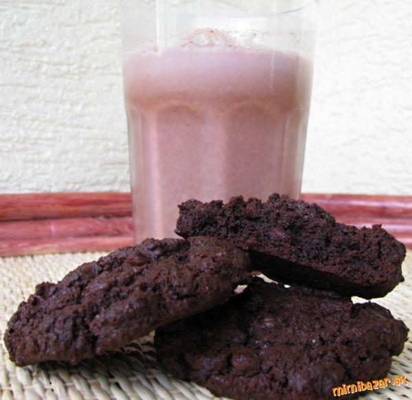 Totálne čokoládové sušienky s kúskami čokolády  MIMIBAZAR.sk