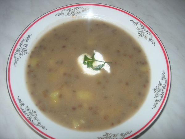 Babkina šošovicová polievka |