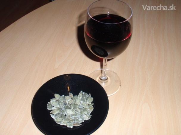 Tekvicové semienka s vínom  Recept