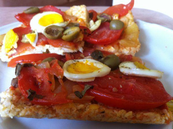Pizza z karfiolového cesta |