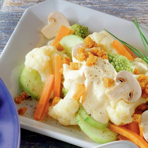 Karfiolový šalát s majonézou |