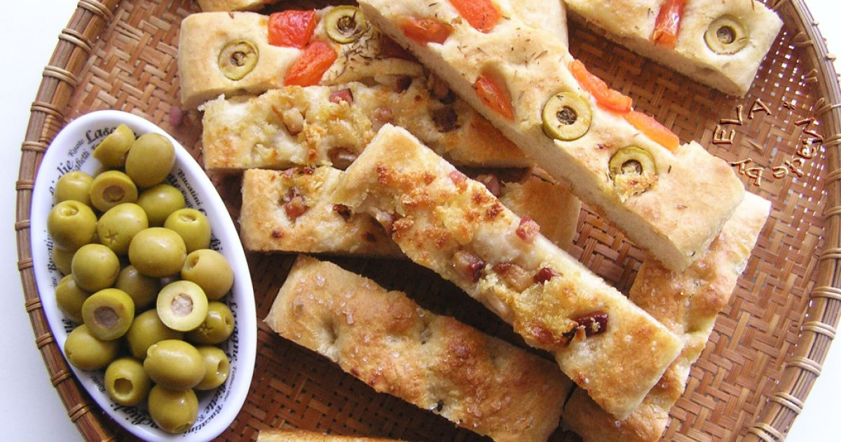 Focaccia  talianska chlebová placka, fotogaléria 1 / 8.