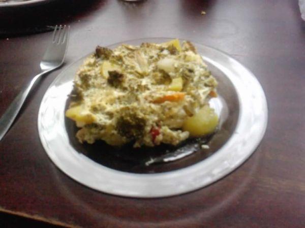 Zapečená zelenina s brokolicou |
