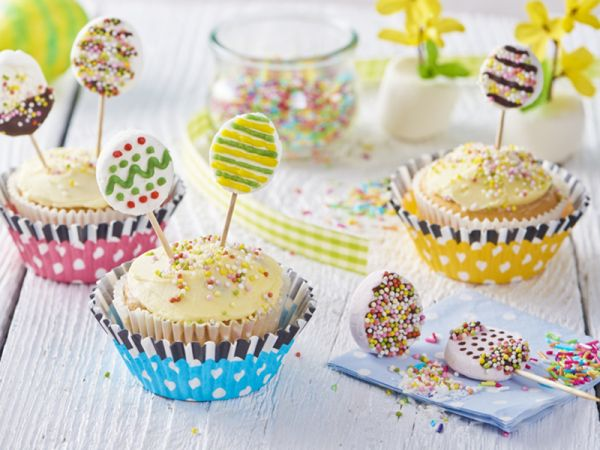Veľkonočné cupcakes s lízankami |