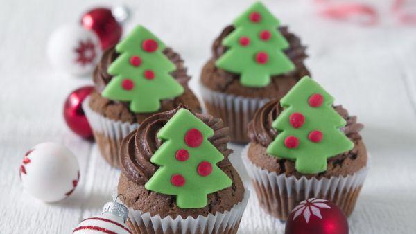 Vianočné čokoládové cupcakes |