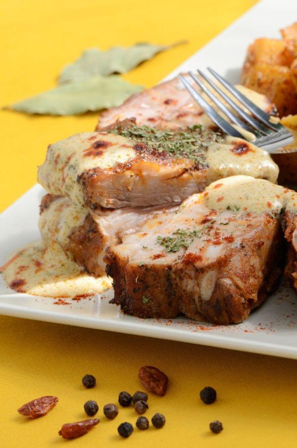 Bravčové filety s horčicovou omáčkou |
