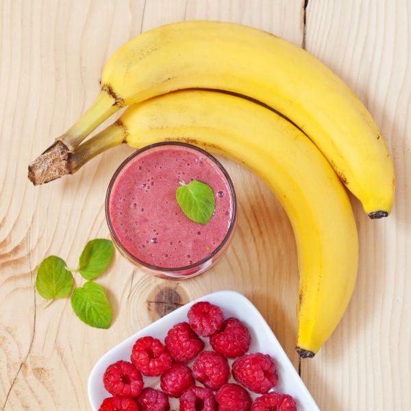 Banánovo-malinové smoothie |