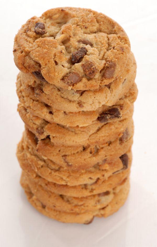 Sušienky s arašidovým maslom a kúskami čokolády |