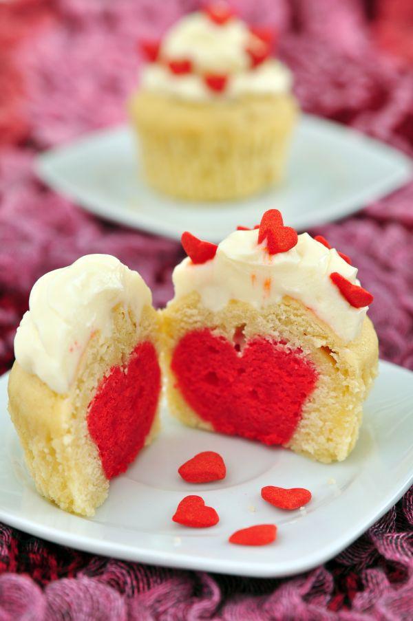 Cupcakes so srdiečkom vo vnútri |