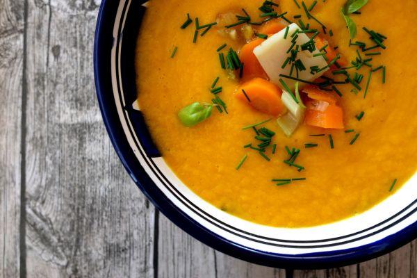 Krémová mrkvová polievka bez laktózy |