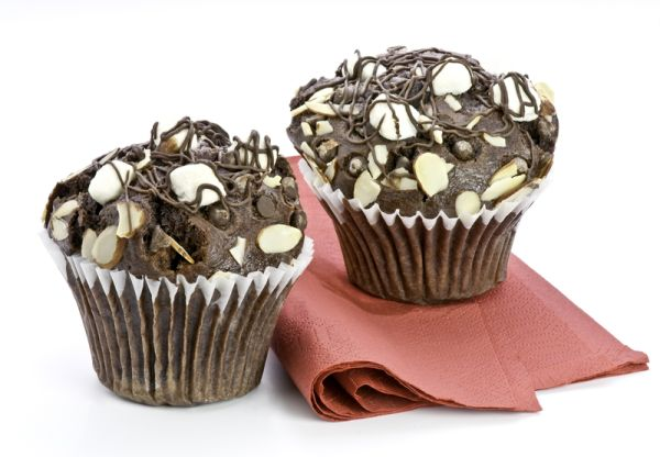 Čokoládové mafiny s kokosovými bonbónmi |