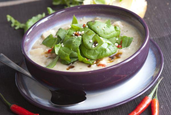 Pórová polievka s cesnakom |