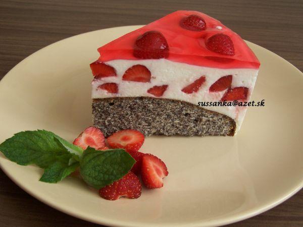 Makovo-smotanová torta |