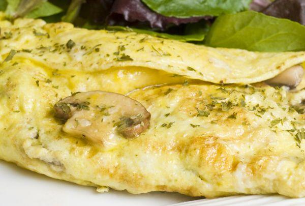 Omeleta s hubami |