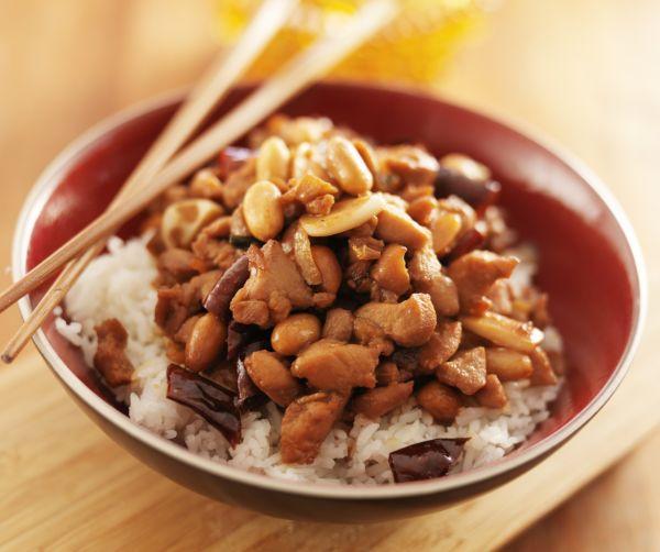 Kuracie prsia kung pao s ryžovým vínom |