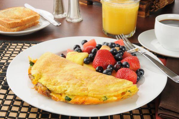 Rýchla omeleta s ovocím |