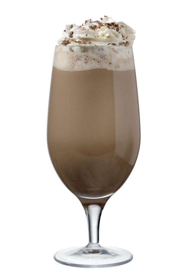 Čokoládový koktail s mliekom a ľadom |