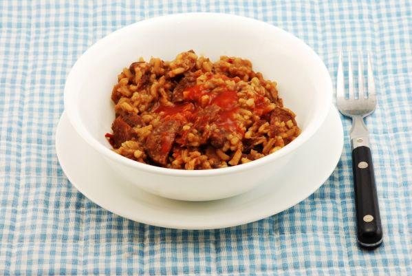 Fazuľová ryža s klobáskou |