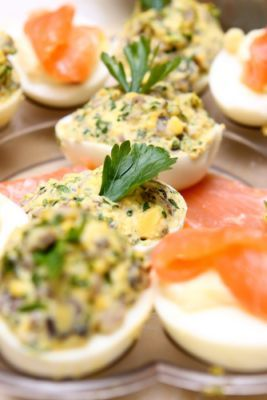 Vyprážané plnené vajcia |