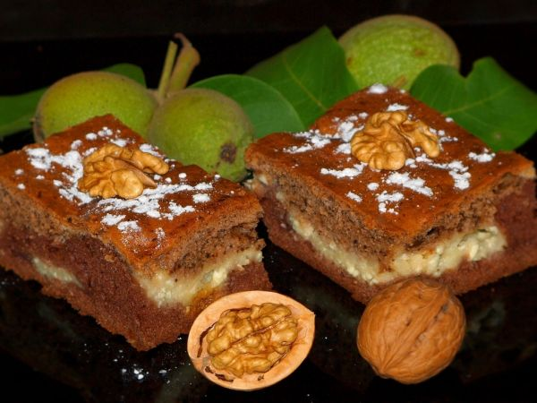 Tvarohovo-orechový koláč |