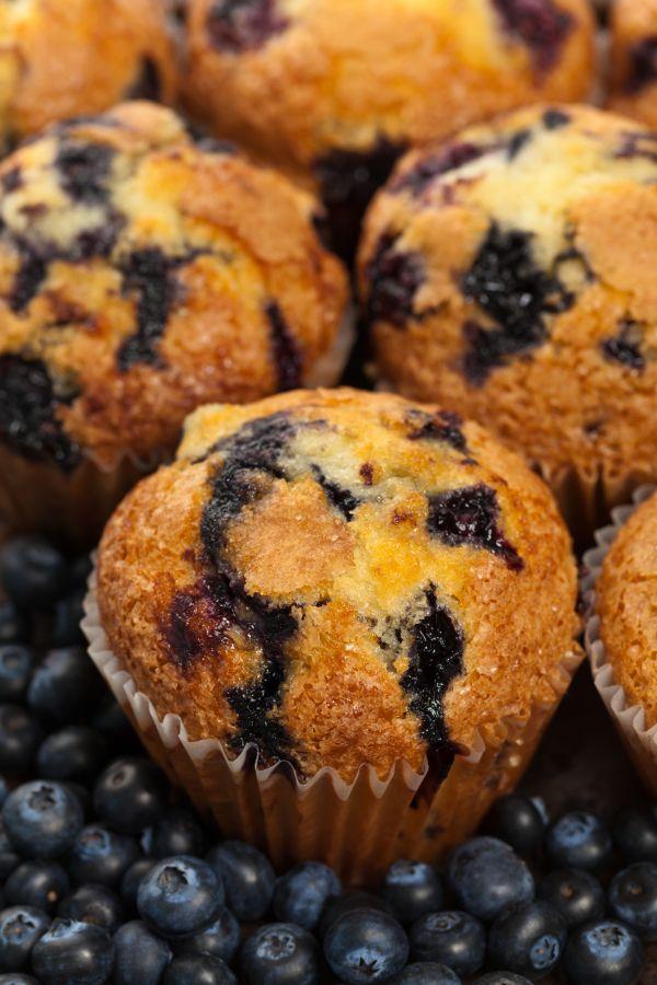 Klasické čučoriedkové muffiny |