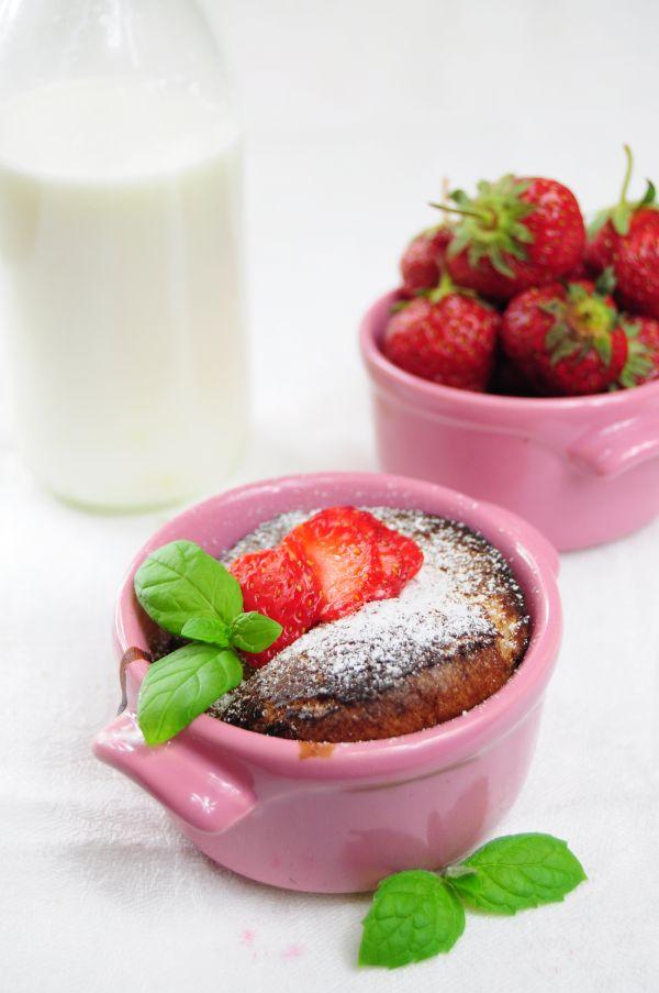 Jahodový muffin z mikrovlnky |