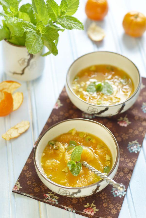 Mandarínková polievka |