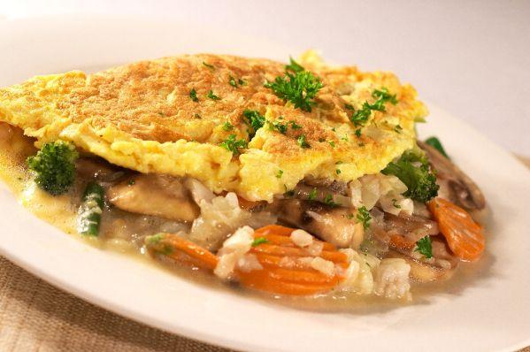 Zeleninová polievka s omeletou |