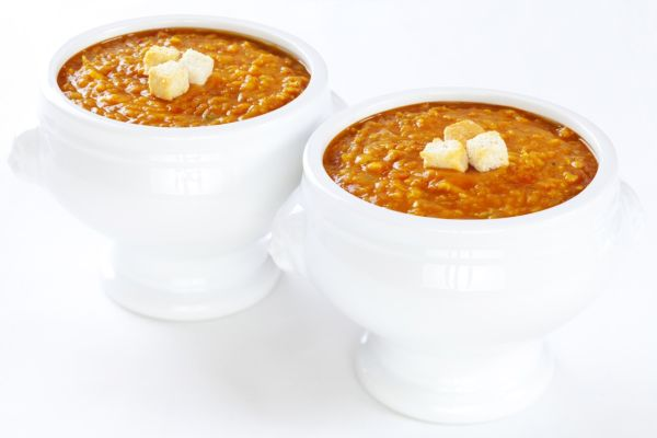 Rýchla polievka z červenej šošovice |
