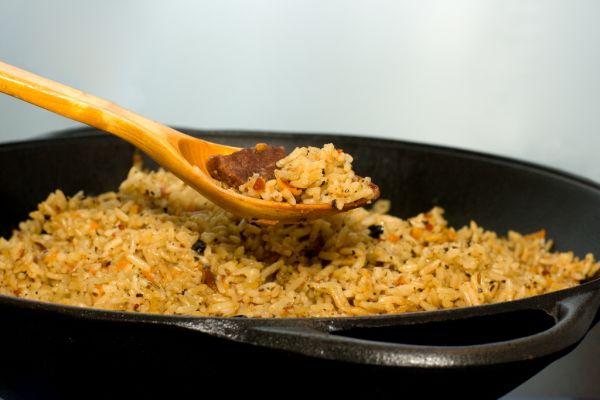 Baranie mäso s ryžou |