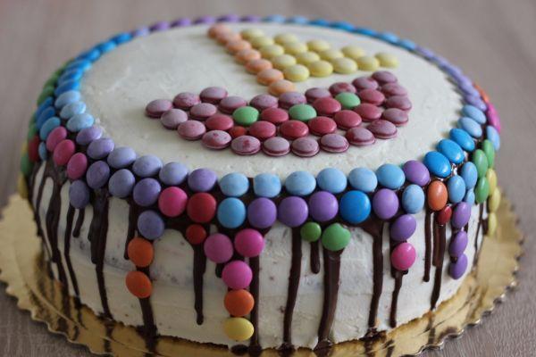 Lentilková torta s ovocím  