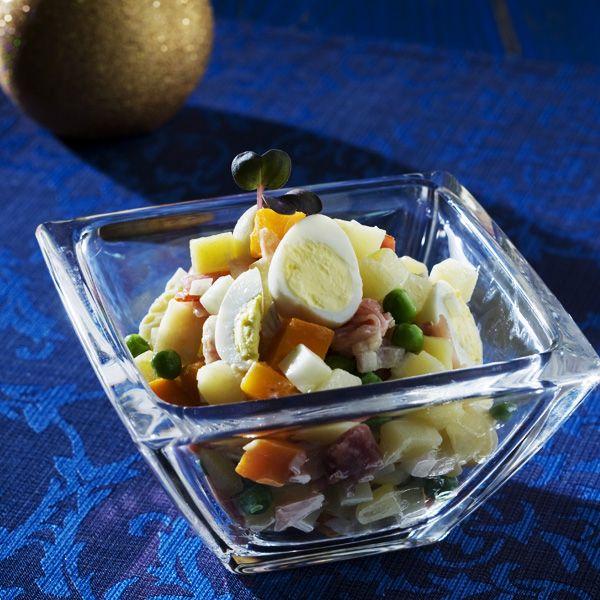 Sviatočný zemiakový šalát |