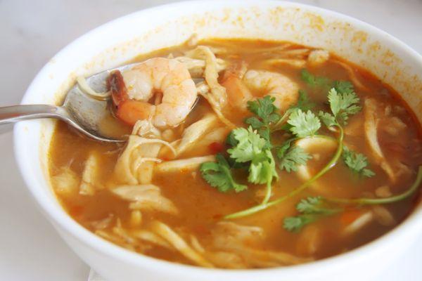 Thajská polievka s krevetami |