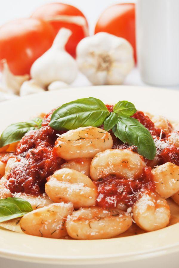 Zemiakové gnocchi s paradajkovou omáčkou |
