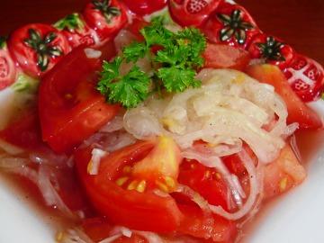 Cibulovo-rajčatový salát  Recepty na každý den