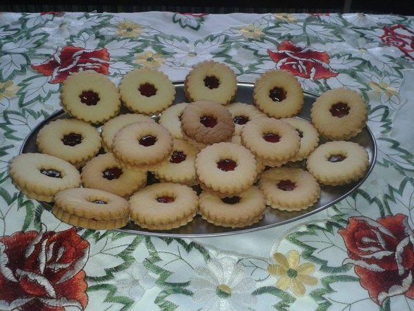 Linecké maslové koláče |