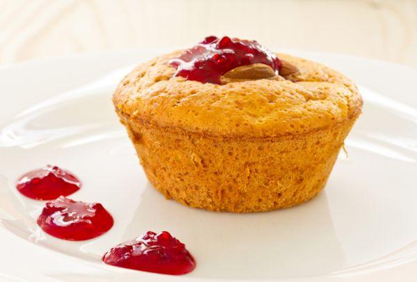 Tekvicové muffiny s malinovým džemom |