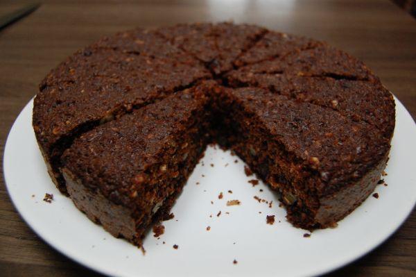 Orechovo-cícerový koláč bez múky |