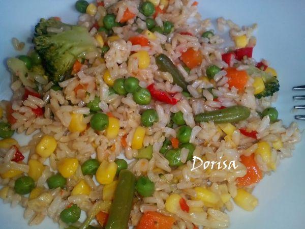 Dusená zelenina s ryžou  