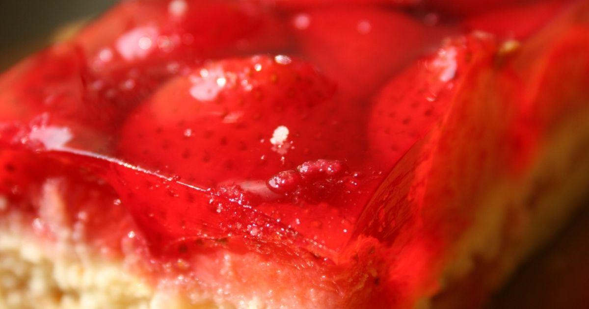 Jahodový koláč so želatínou, fotogaléria 1 / 1.
