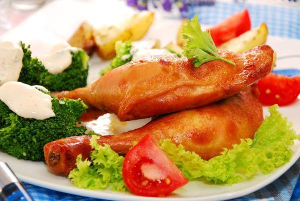 Pečené kura s paradajkami |