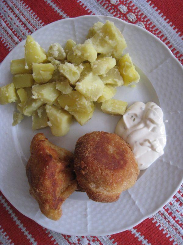 Vyprážaný karfiol so zemiakmi  