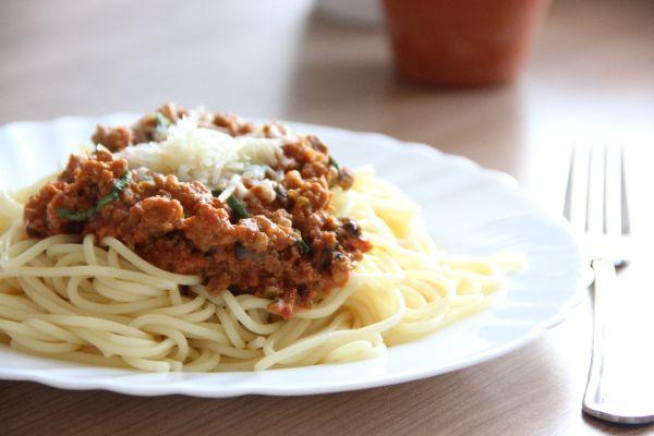 Špagety s mäsovo-šampiňónovou omáčkou |
