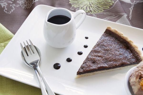 Čokoládovo-karamelový tart  