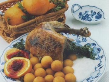 Kachna na pomerančích  Recepty na každý den