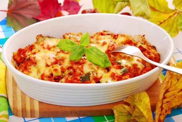 Mleté mäso zapečené s paradajkami a syrom |