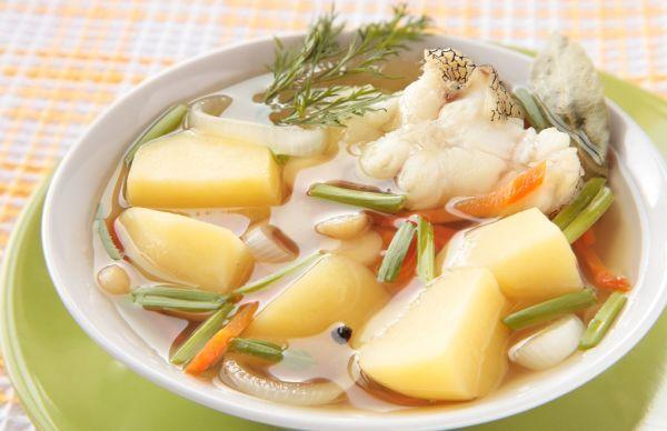 Zemiaková polievka s rybami |