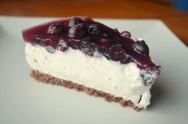 Čučoriedkový cheesecake |